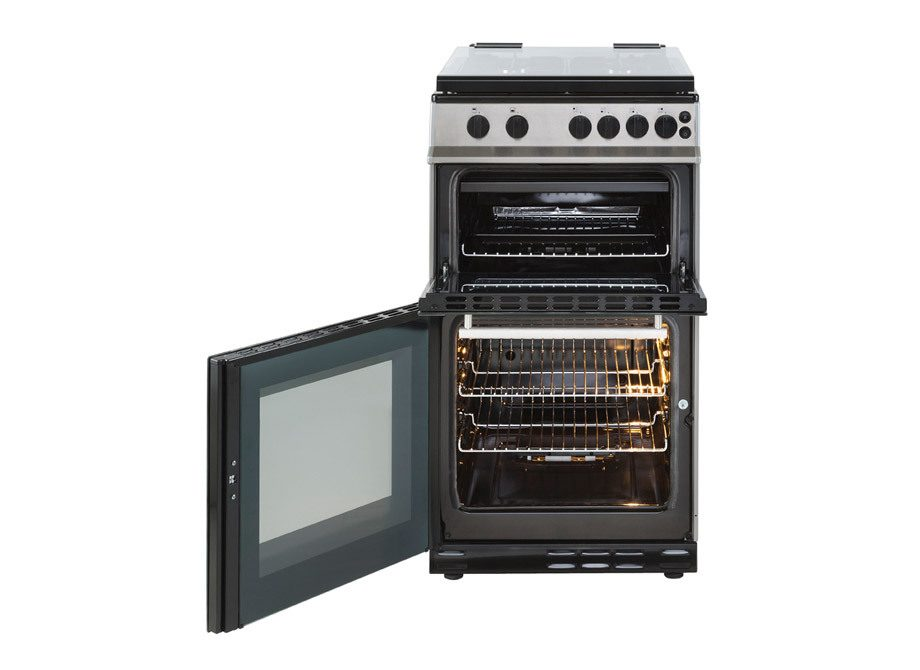 Belling 2Nd  Image 50Cm  Gas  Twin  Cavity  Cooker With  Glass  Lid
