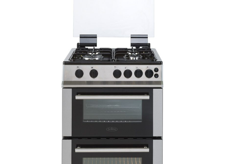Belling 50Cm Gas Twin Cavity Cooker With Glass Lid