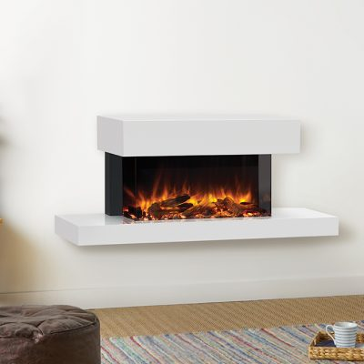 Skope 70 W Outset Trento Centred With Log Fuel Effect