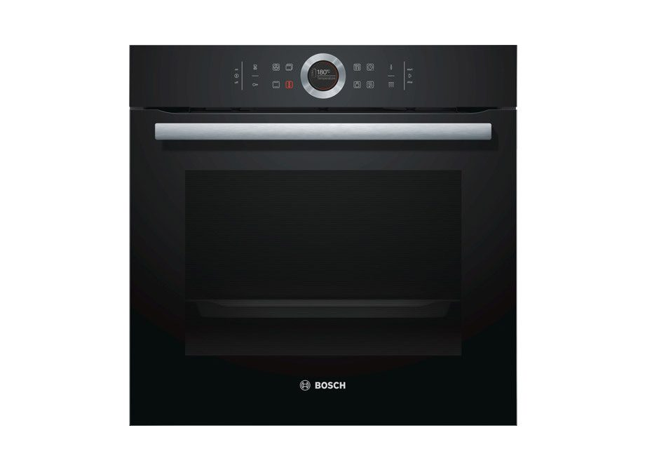 Bosch Series 8 60Cm Black Glass Pyrolytic Electric Oven