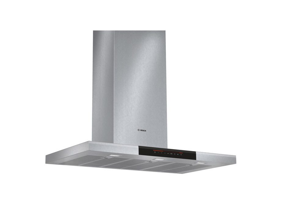 Bosch Series 8 90Cm Slimline Box Style Chimney Extractor In Brushed Steel