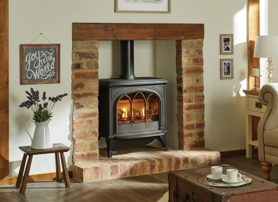 Huntingdon 40 Gas Stove In Matt Black