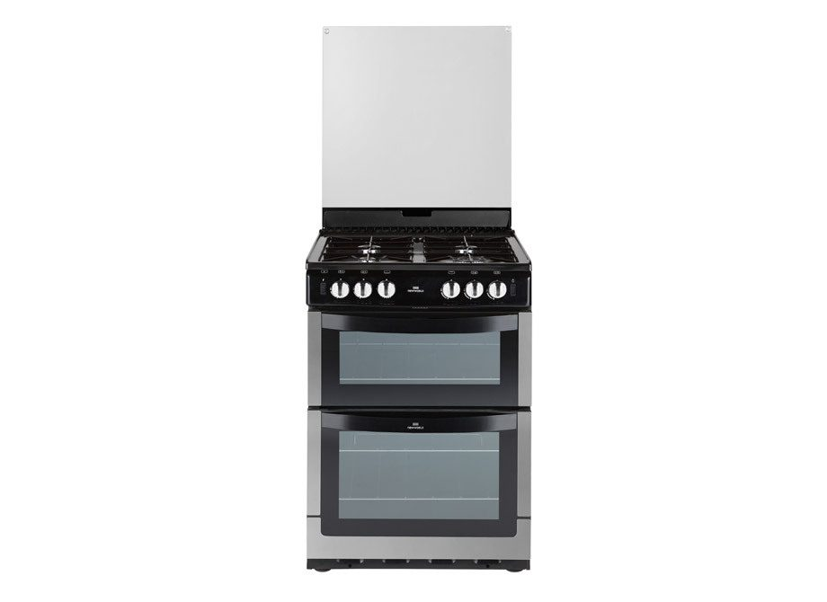 New World 60Cm Wide Gas Twin Cavity Cooker With Lid