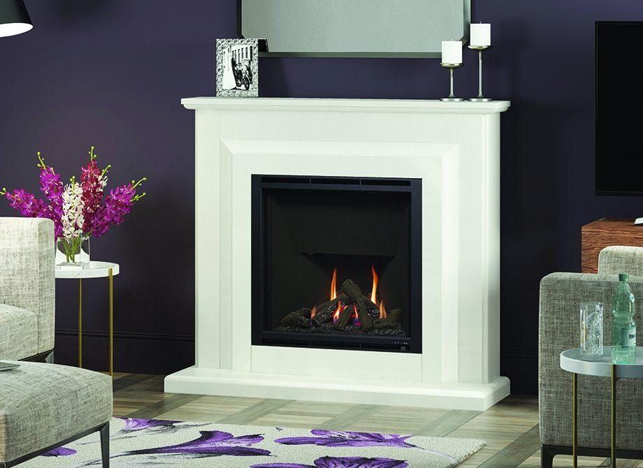Orieta 900 Gas Fireplace White