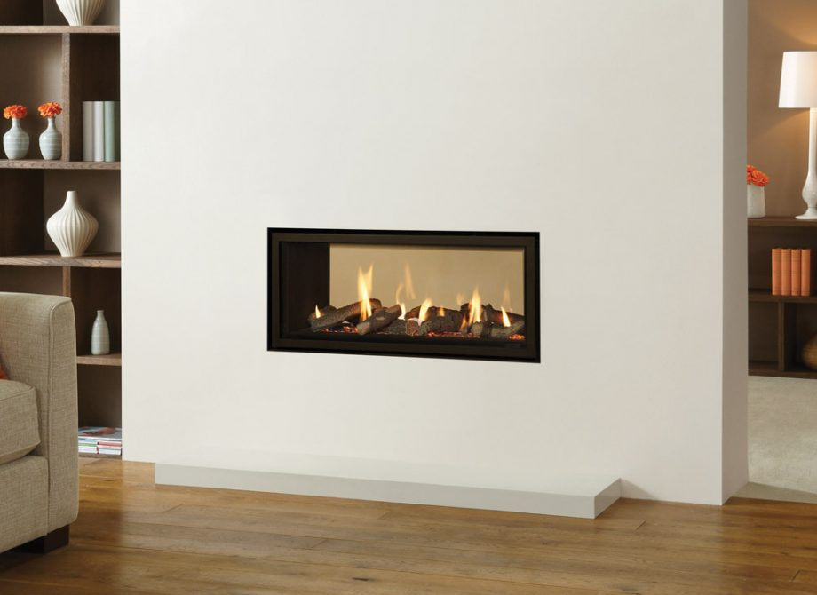 Studio 2 Duplex Edge Gas Fire With Black Reeded Lining