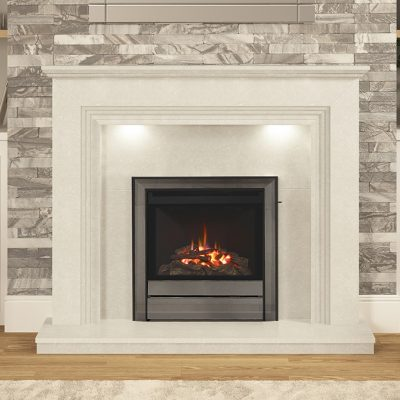Chollerton Widescreen Gas Fire Brushed Steel