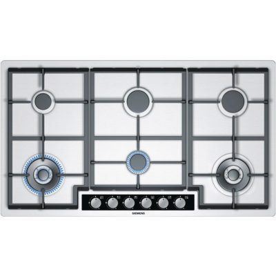 Siemens I Q500 90Cm Gas Hob With Dishwashable Cast Iron Supports